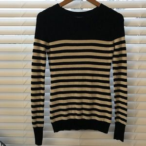 Express black & white striped long sleeve sweater!